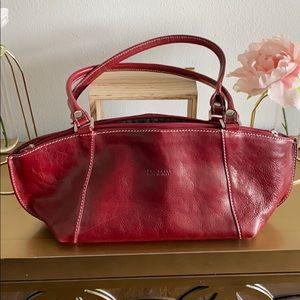 Vera Pelle Red Leather Purse
